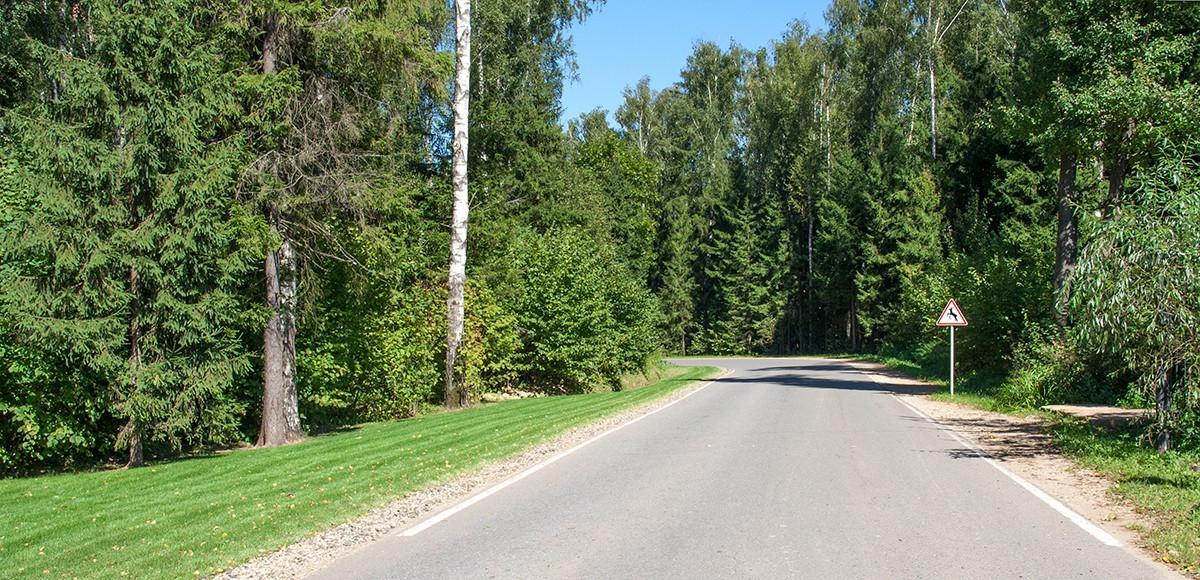 Частная дорога ведет к поселку Мэдисон Парк