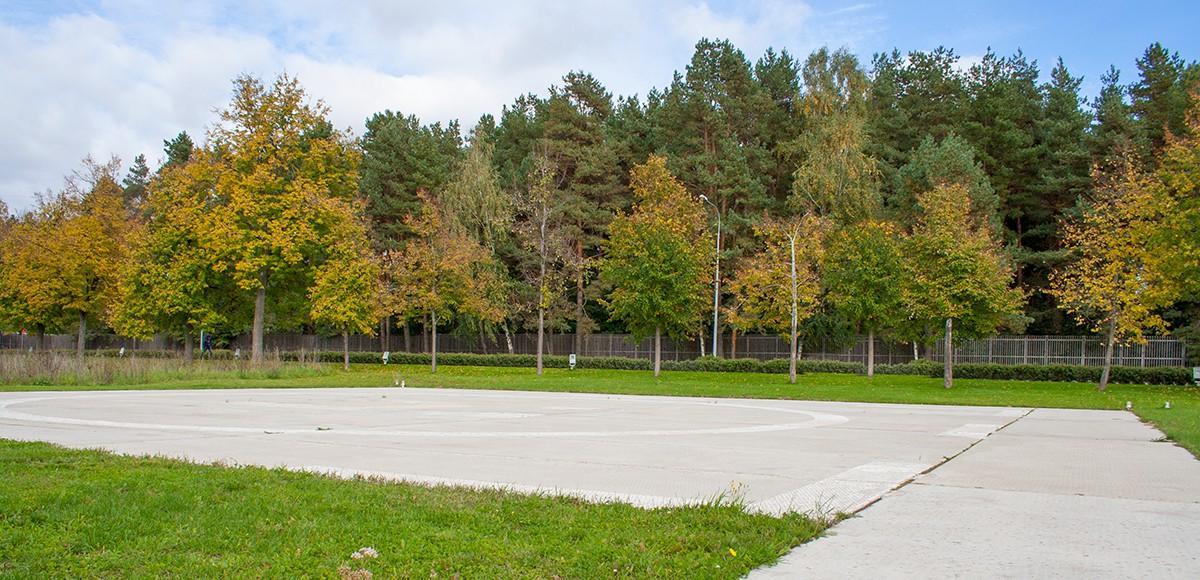 Вертолетная площадка в поселке-курорте Пирогово
