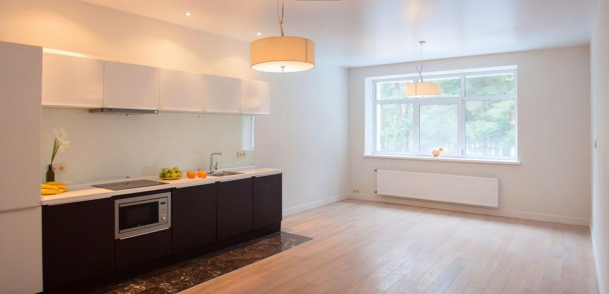 Кухня-гостиная, вид 1, квартира 7, Усово