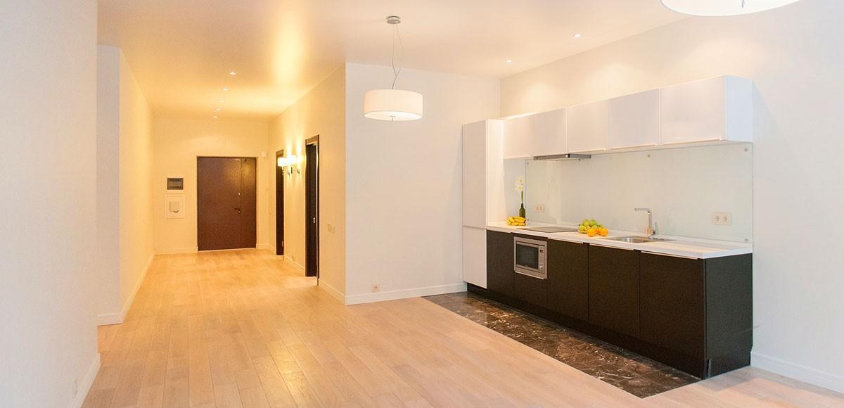 Кухня-гостиная, вид 2, квартира 7, Усово